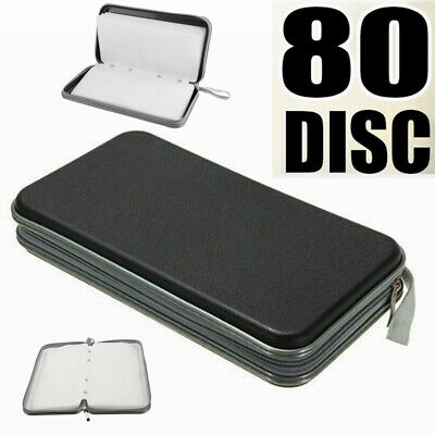 80 Disc Double-side CD DVD Pocket Storage Case (Double Side Black Dvd Cases)