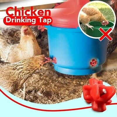 6 Horizontal Side Mount Chicken Nipples Water Automatic Poultry Waterer No Mess