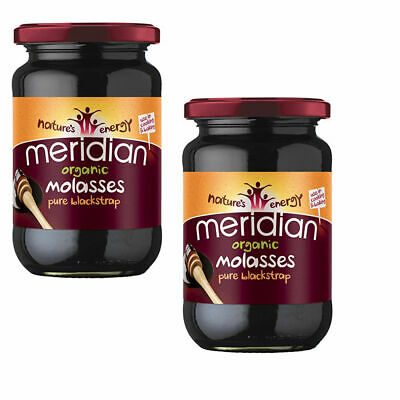 2x Meridian Organic Blackstrap Molasses Vegan Sweetener Unsulphured 600g