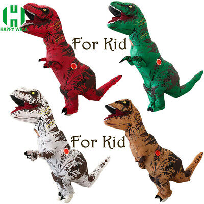 Kids Inflatable Dinosaur Mascot Costume Suits Dress Cosplay Blow Up Party Game - Dinosaur Kid Costume
