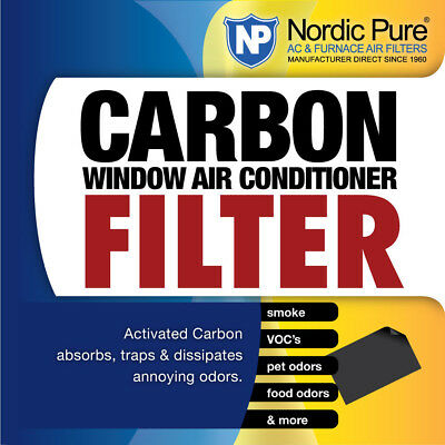 Nordic Pure Carbon Window AC Unit Filter 14x48 Cut to Fit Sh