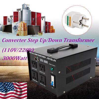 3000w Heavy Duty Voltage Regulator Converter Transformer 110v220v Step Updown