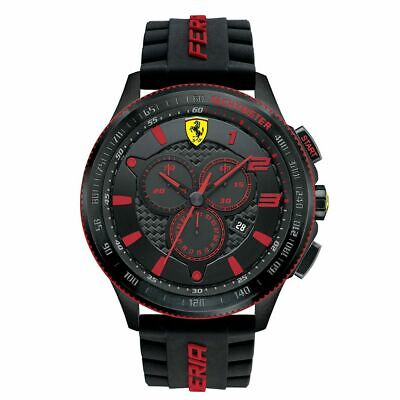 Ferrari Scuderia Genuine Men's Watch 0830138 XX Silicone Band Watch NEW BARGAIN