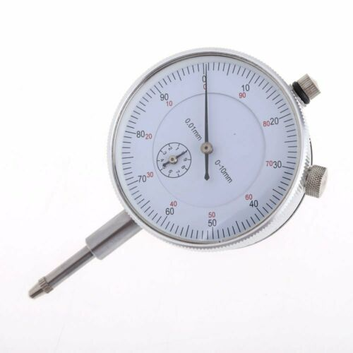 Dial Indicator Gauge 0-10mm Meter Precise 0.01 Resolution Concentricity Test USA