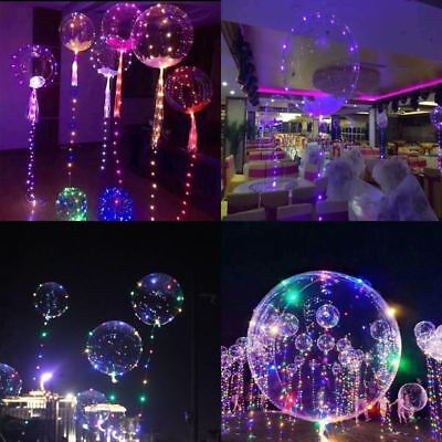 20inch LED Air Balloon 3M Long String Light Wave Ball Helium Toy Wedding Decors - Helium Led Balloons