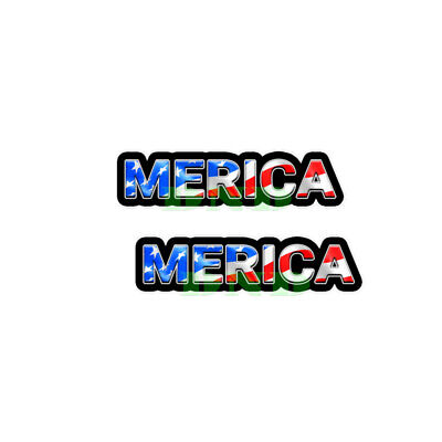 Merica Us Flag Lunch Box Hard Hat Tool Box Usa Helmet Sticker 2 Pack 9 Inch