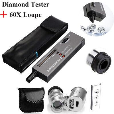 Jeweler Diamond Tool Kit : Portable Diamond Tester - 60X Illuminated Loupe US