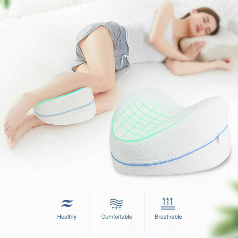 Almohada para Piernas Rodillas Memory Foam Almohada para Piernas para Dormir Coj/ín para almohada con de memoria para durmientes de lado Almohada de apoyo Ergon/ómico para Rodillas para Aliviar Ciatica