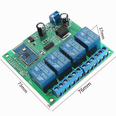 Dc12v 4 Channel Wireless Bluetooth Relay For Phone Remote Control Switch Smart