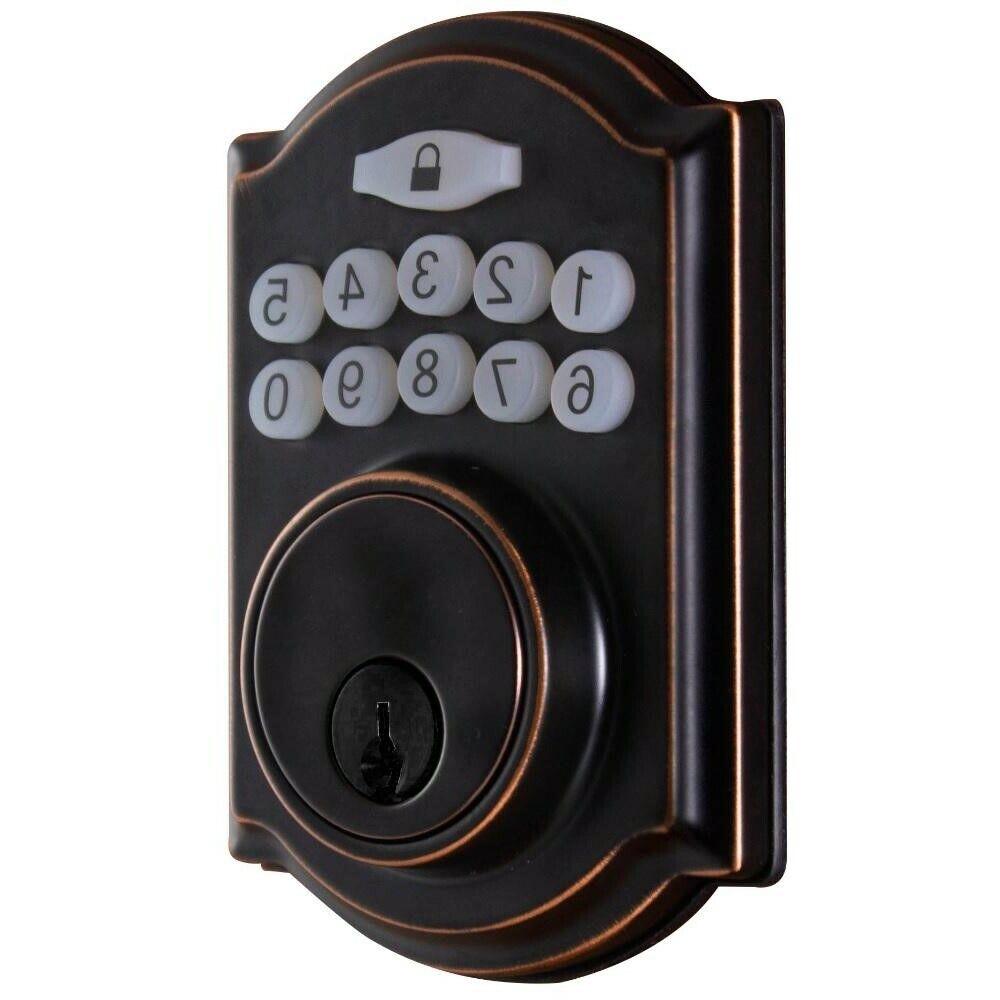 Smart Door Lock with Single Cylinder Electronic Keypad Deadb
