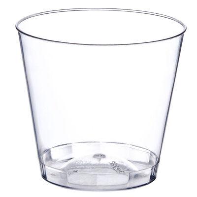 Clear 1 oz. Shot Glasses Hard Plastic Disposable Cups for Bar & Catering Bulk](Bulk Plastic Glasses)