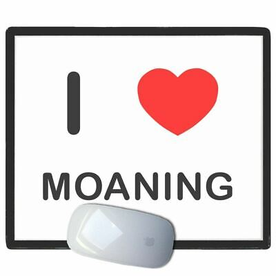 I Love Heart Moaning - Thin Pictoral Plastic Mouse Pad Mat Badgebeast