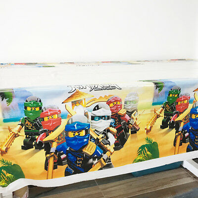 1pcs Ninjago Theme Birthday Party Disposable Table Cloth Cover(1.08x1.8 - 1 Birthday Theme