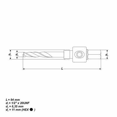 Hex Adapter für Bohrkronen [Ø 14-30 mm]
