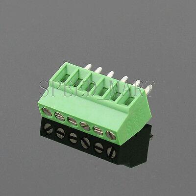 6 Poles6 Pin 2.54mm 0.1 Pcb Universal Screw Terminal Block Connector