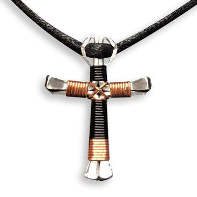 Sport Design - Horseshoe Nail Cross Necklaces -100% Handmade