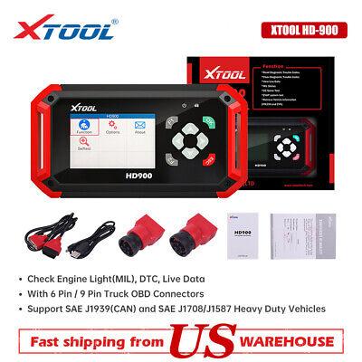 XTOOL HD900 Diesel Heavy Duty Truck CAN Code Reader VIN Diagnostic Scanner Tool