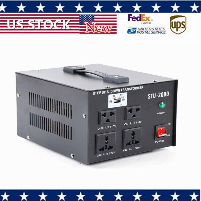 NEW 2000 W Voltage Converter Stabilizer 110V 220V Transformer Regulator STU-2000
