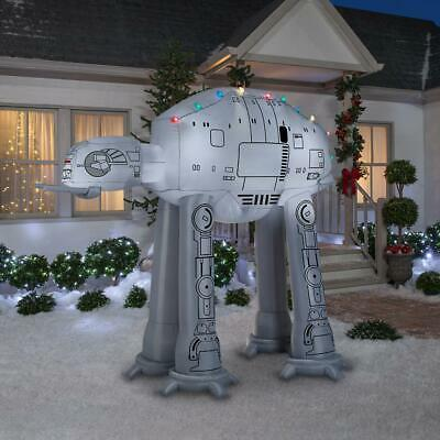 8 Ft STAR WARS AT-AT WALKER WITH CHRISTMAS LIGHTS Airblown Yard Inflatable - Star Wars Christmas Inflatables