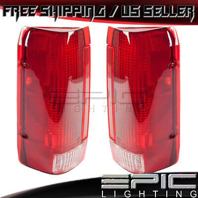 1990-1997 FORD BRONCO F150 F250 PICKUP Rear Brake Tail Lights - Left Right (Ford F250 Pickup Tail Light)