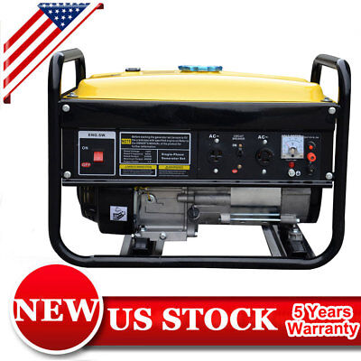 4000W Mini Gas Powered Generator Outdoor Portable Emergency Backup Quiet Gas P