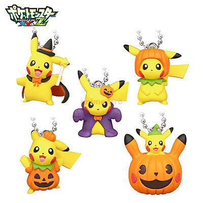 Pokemon XY&Z Halloween Pikachu Mascot Keychain Figure SET of 5 Tomy Nintendo - Z Halloween