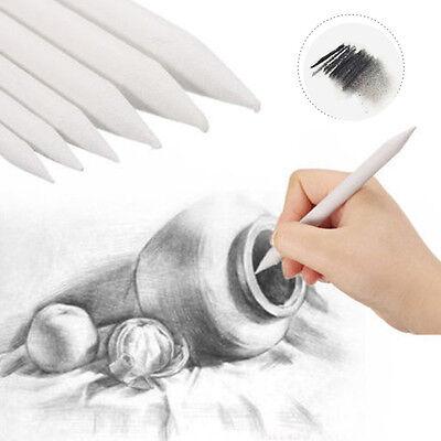 6pcs/set  Charcoal Drawing Paper Pencil Warp Tortillon Sketch Art Drawing Pen