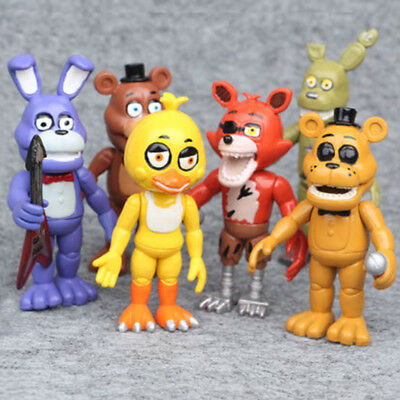 Five Nights At Freddys 6 Pcs  Fnaf Game Character Action Figures Doll Toy Gifts