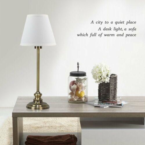 HAITRAL Table Lamp Set of 2 Modern Desk light Black Nightsta