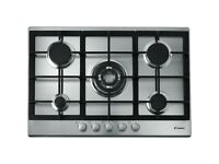 NEW Candy CPG75SQGX Five Burner 75m Gas Hob Stainless Steel - RRP £250