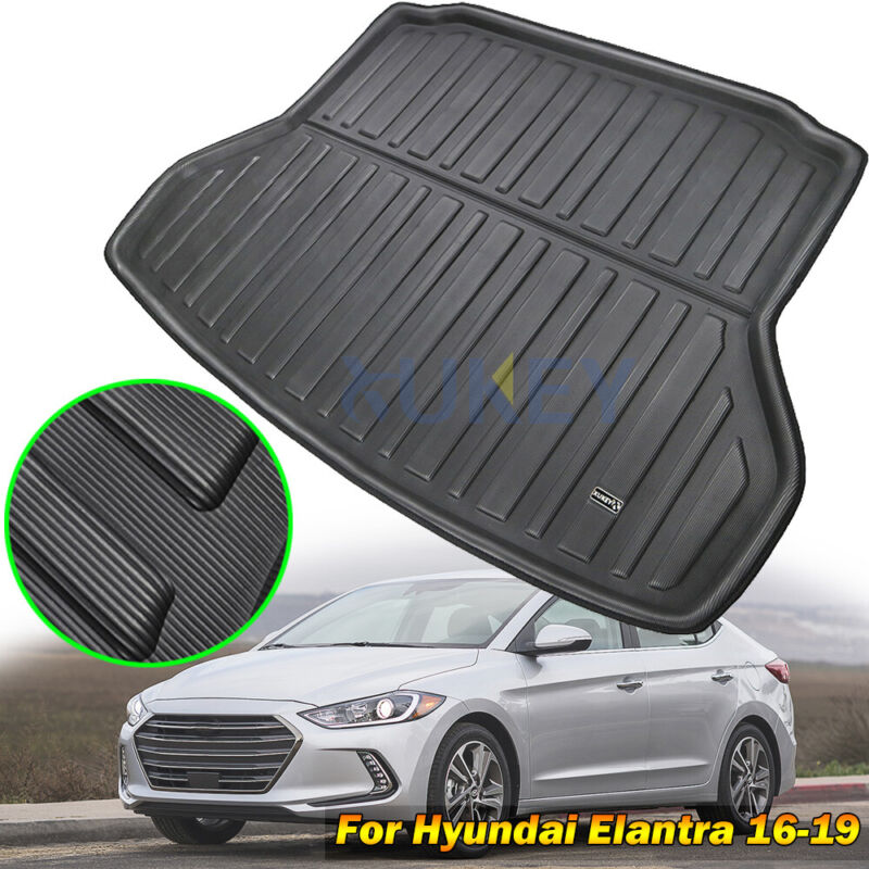 Fit For Hyundai Elantra Sedan 11-15 Rear Trunk Boot Liner Cargo Mat Floor Tray