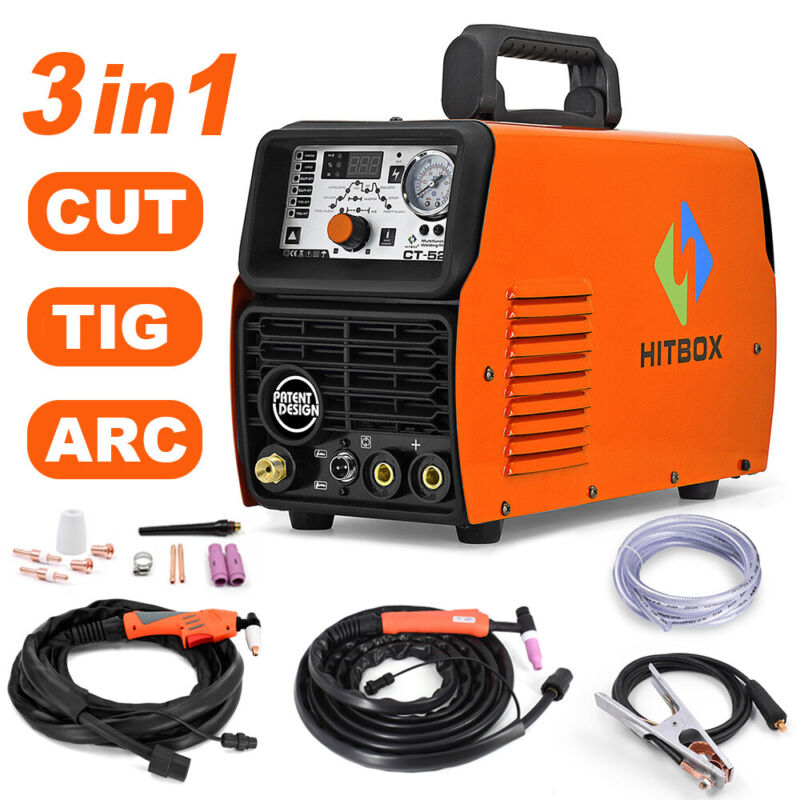 HITBOX 3IN1 CT520 Plasma Cutter  ARC Stick Tig Welder Welding Machine 50A 200A
