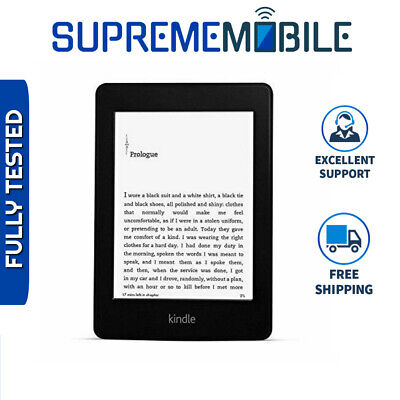"""Amazon Kindle Paperwhite 6th Gen 4GB Black 6"""" WiFi Only w/ Built-In Light"""
