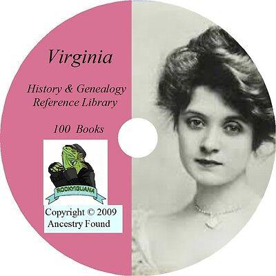 100 books VIRGINIA history & genealogy  VA