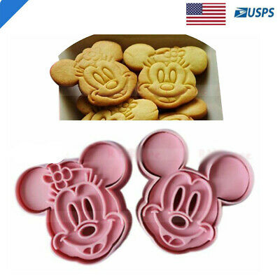 Mickey Mouse Fondant Cutter / Cookie Topper / Cupcake Topper / Micky Mouse 4PCs](Mickey Mouse Cookie)