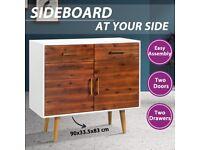 Sideboard Solid Acacia Wood 90x33.5x83 cm-245741