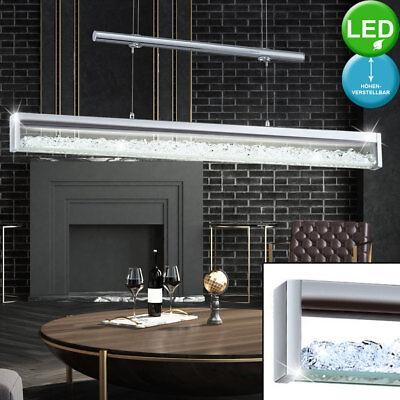 LED Luxus Glas Decken Hänge Lampe höhenverstellbar Kristall Pendel Leuchte chrom (Kristall-pendelleuchte)