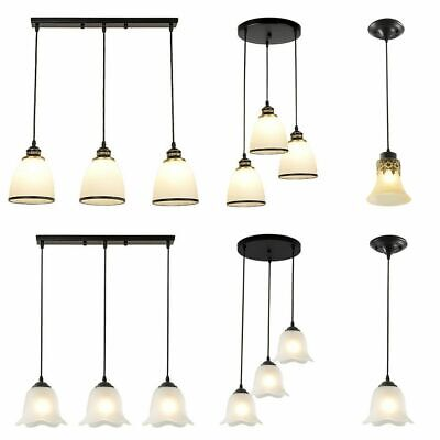 Glass Pendant Cluster Light Modern Hanging Ceiling Chandelier Loft Lamp Fixture
