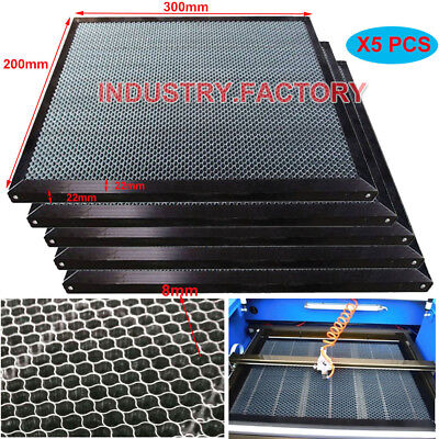 5pcs Honeycomb Work Table 300x200mm For Co2 Laser Engraver Cutting Lathe Machine
