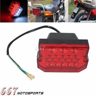 LED Rear Tail Light License Plate Light For MZ ETZ 150 250 251 301 Simson Suzuki