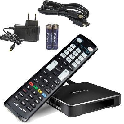 Kartina TV X-BOX IPTV Receiver Russian IP Android 4K UHD DUAL WLAN nur KartinaTV 4 X Tv