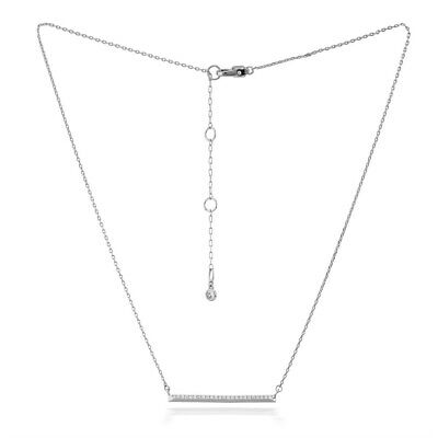 Kate Spade Raise The Bar Pave Silver Size 16 inches Necklace WBRUH563911