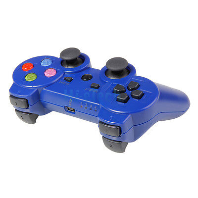 New Wireless Controller Bluetooth for Sony Playstation 3 PS3 Blue Color Key on Rummage