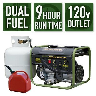Sportsman 2000-w 3.5 Hp Portable Hybrid Dual Fuel Gas Generator Home Rv Camping