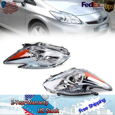 New 2x For 12-15 Toyota Prius Headlamp Headlight Halogen LH & RH US Passenger