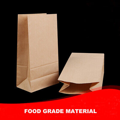 Food Gift Packaging - 10/50/100 PCS Thick Kraft Paper Bag, Candy Party Gift Wedding Food Package Bag