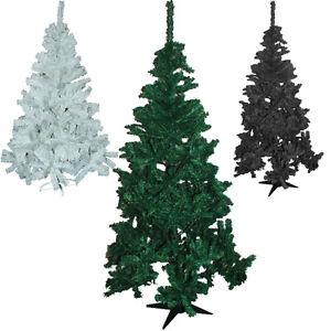 NEW-6FT-FERN-GREEN-PINE-CHRISTMAS-TREE-ARTIFICIAL-X-MAS-BLACK-WHITE-4FT-5FT-TIPS