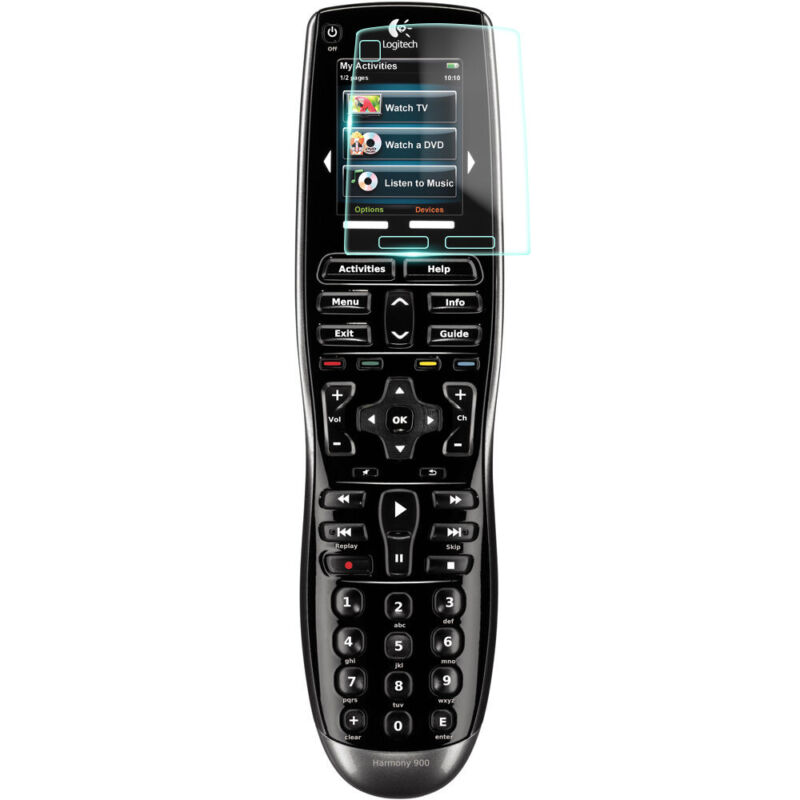 Crystal Clear Screen Protector for Logitech Harmony 900 ONE Remote Control MP3