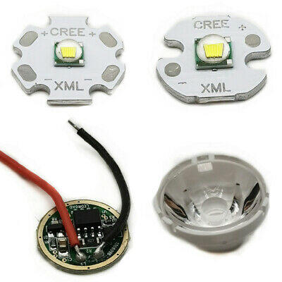 Cree Xm-l Led T6 White Light With 20mm Star Pcb 3.7v 5modes Led Driver T6 Lens