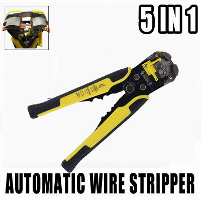 5in1 Electric Cable Wire Striper Cutter Stripper Crimper Plier Terminal Tool